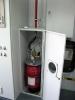 Система газового пожаротушения производства ТЕХНОС-М+ на защите аппаратного контейнера.